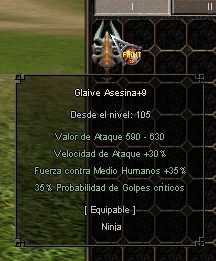 Glaive asesina -