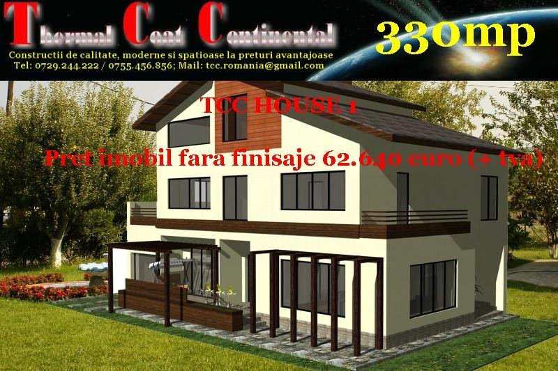 Case noi: TCC HOUSE1, P+E+M=330mp
