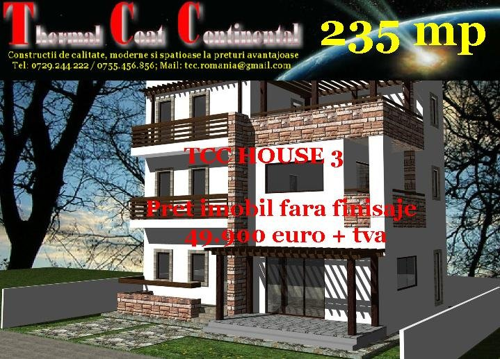 Vile noi: TCC HOUSE 3, P+2E=235 mp