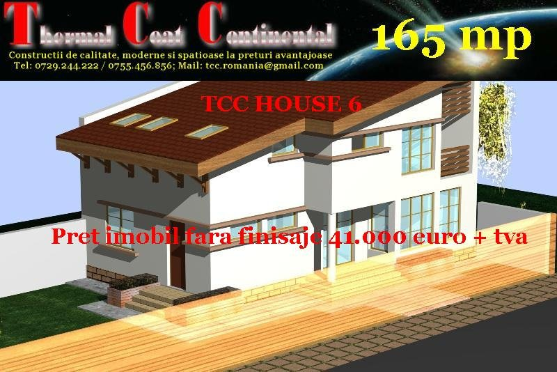 Case noi: TCC HOUSE 6, P+E=165 mp