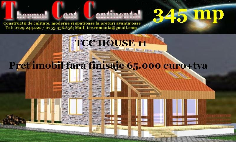 Vile noi: TCC HOUSE 11, P+E+M=345 mp
